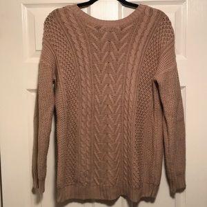 Tan crew neck sweater